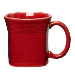 The Homer Laughlin China Company Square Mug 13 oz Scarlet