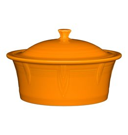 The Homer Laughlin China Company Large Covered Casserole 90 oz Butterscotch