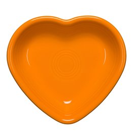 The Homer Laughlin China Company Small Heart Bowl Butterscotch