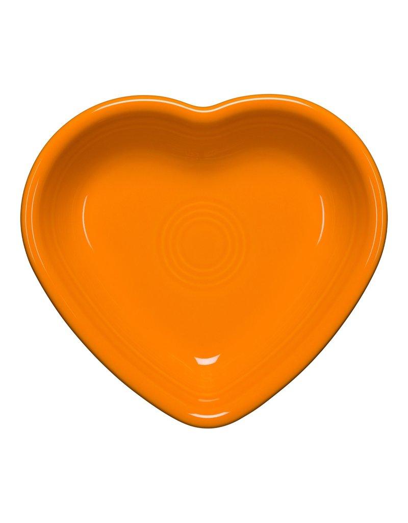 The Homer Laughlin China Company Small Heart Bowl Butterscotch