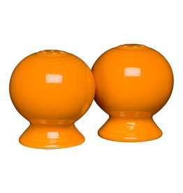 "The Homer Laughlin China Company Salt & Pepper Set 2 1/4"" Butterscotch"