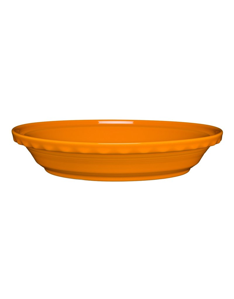 The Homer Laughlin China Company Deep Dish Pie Baker Butterscotch