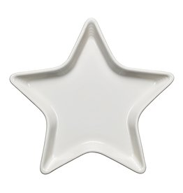 The Homer Laughlin China Company Star Plate White