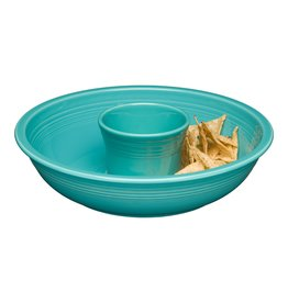 The Homer Laughlin China Company Chip & Dip Set Turquoise