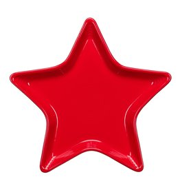 The Homer Laughlin China Company Star Plate Scarlet