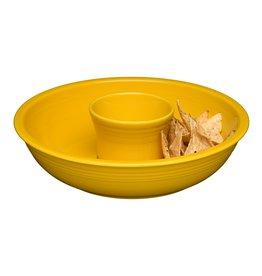 The Homer Laughlin China Company Chip & Dip Set Daffodil