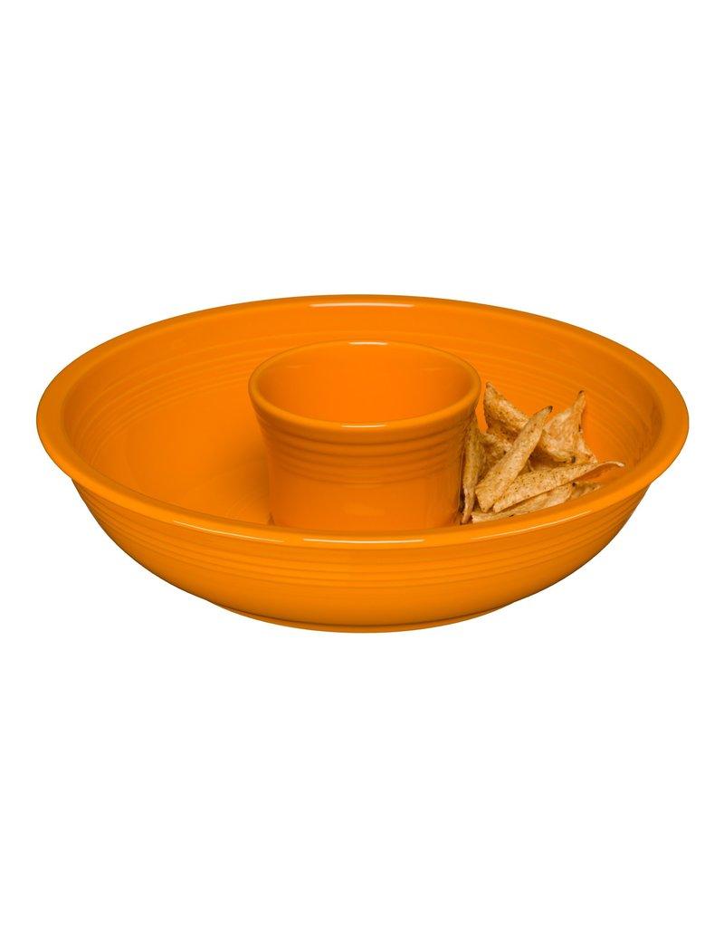 The Homer Laughlin China Company Chip & Dip Set Butterscotch