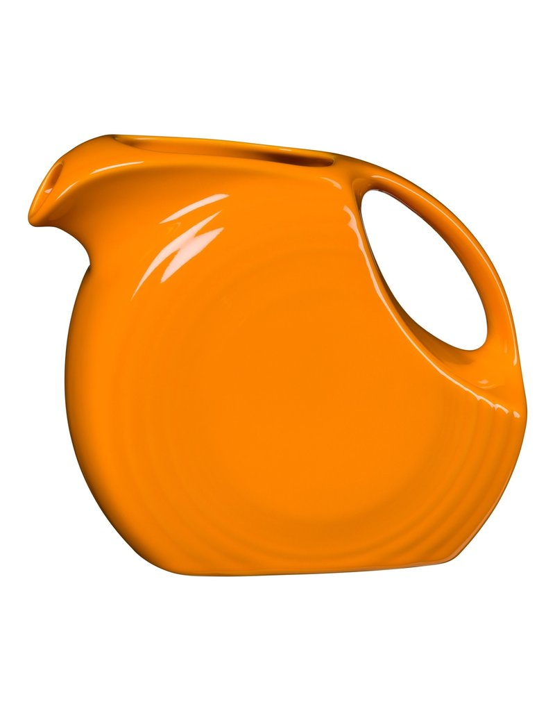 The Homer Laughlin China Company Large Disc Pitcher 67 1/4 oz Butterscotch