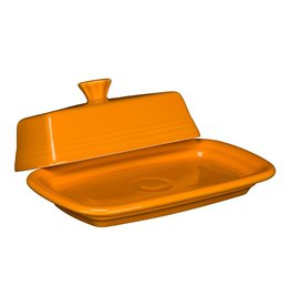 The Homer Laughlin China Company Extra Large Covered Butter Butterscotch