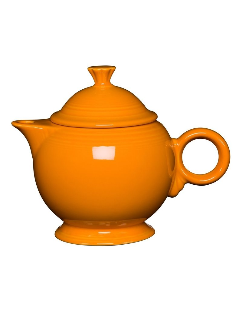 The Homer Laughlin China Company Covered Teapot Butterscotch