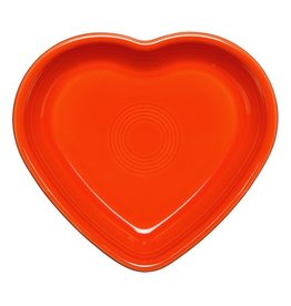 Large Heart Bowl 26 oz Poppy