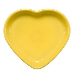 Large Heart Bowl 26 oz Sunflower
