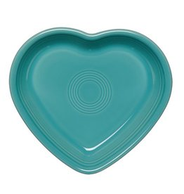 Large Heart Bowl 26 oz Turquoise