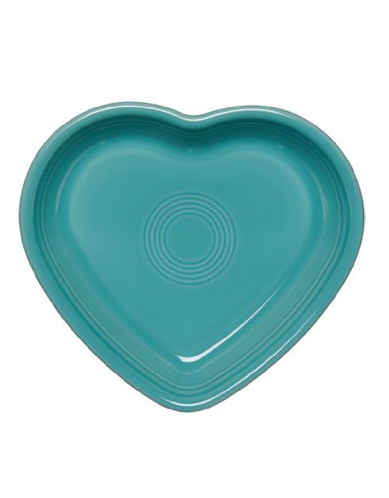 Large Heart Bowl 26 oz Turquoise