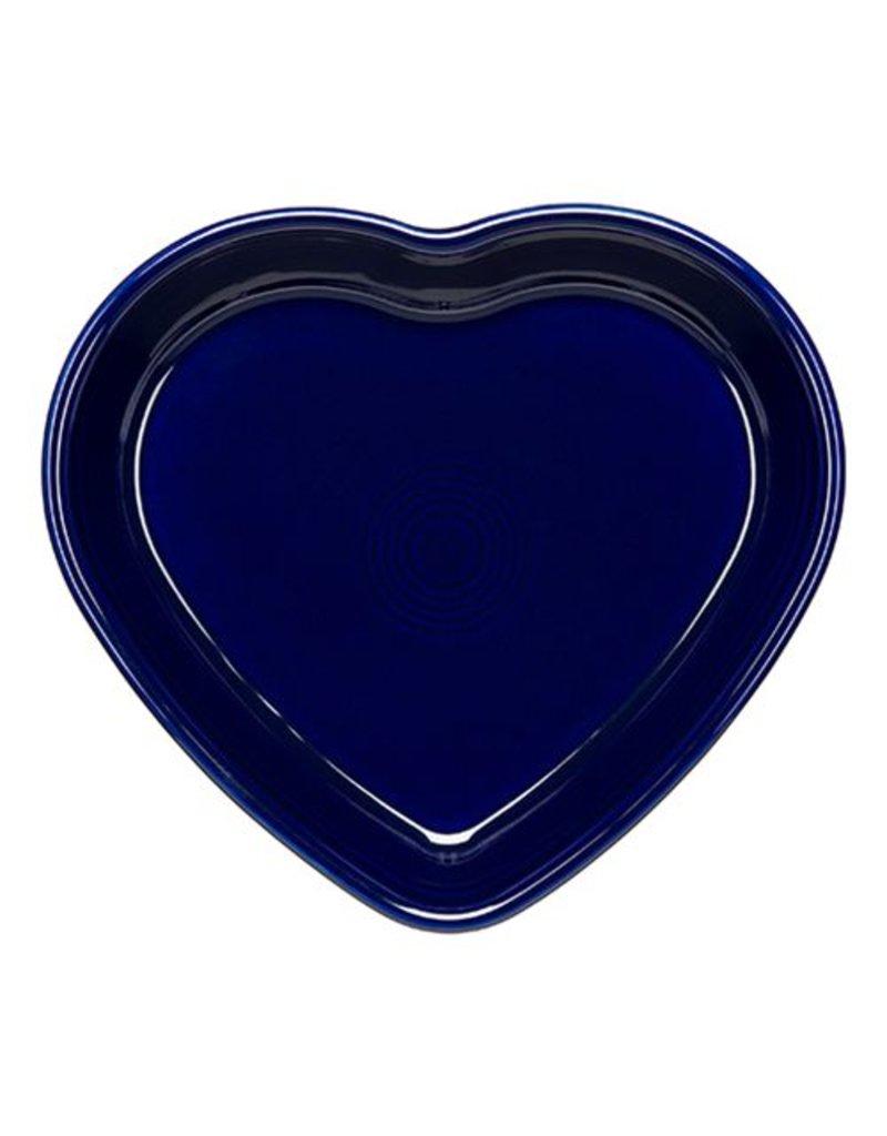 Large Heart Bowl 26 oz Cobalt Blue