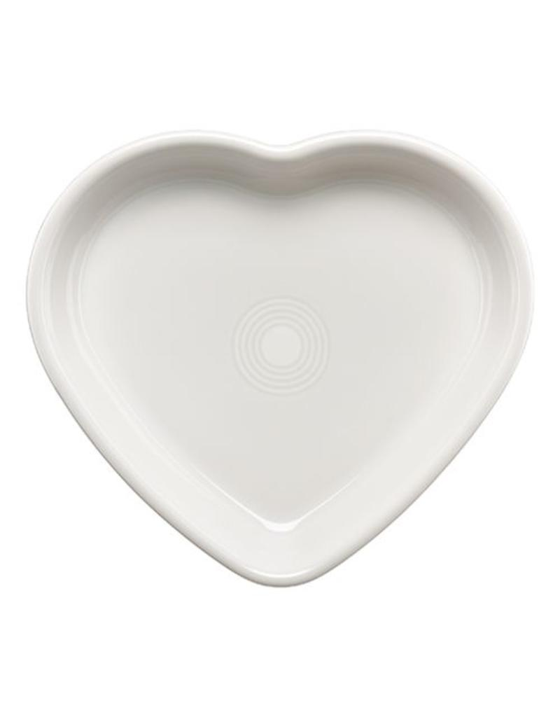 Large Heart Bowl 26 oz White