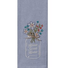 Home Sweet Home Embroidered Tea Towel