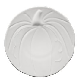 The Homer Laughlin China Company Pumpkin Plate White
