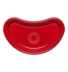 Individual Bistro Crescent Plate Scarlet