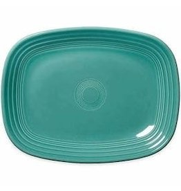The Fiesta Tableware Company Rectangular Platter 11 3/4 Turquoise