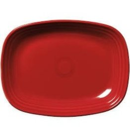 The Fiesta Tableware Company Rectangular Platter 11 3/4 Scarlet