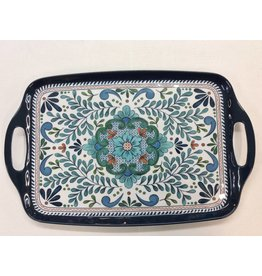 Talavera Rectangular Tray with Handles