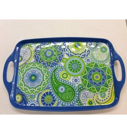 Boho Rectangular Tray with Handles