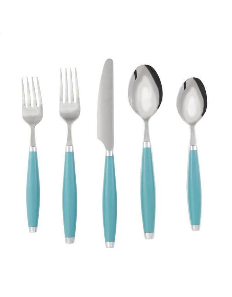 5 pc Flatware Turquoise