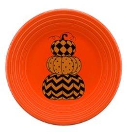 Luncheon Plate Halloween Geo Pumpkin