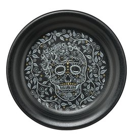Appetizer Plate Skull and Vine