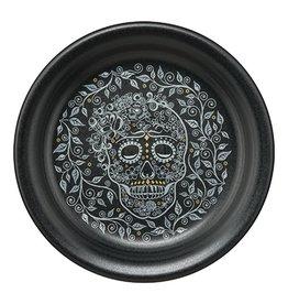 Appetizer Plate Skull and Vine