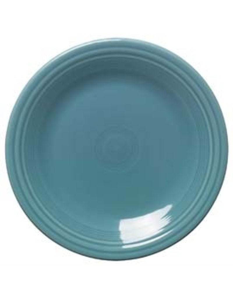"""Dinner Plate 10 1/2""""  Turquoise"""