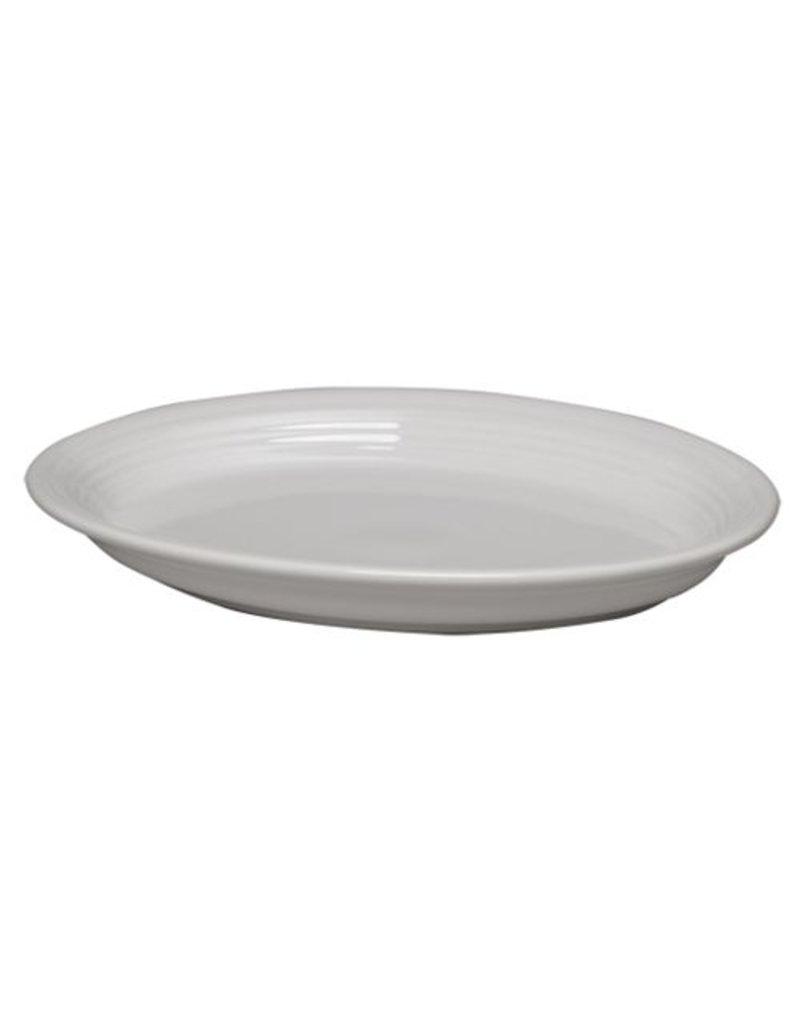 "Large Oval Platter 13 5/8"" White"