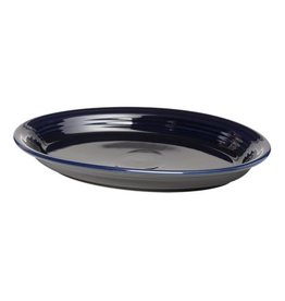"Large Oval Platter 13 5/8"" Cobalt Blue"