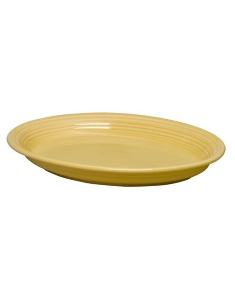 "Large Oval Platter 13 5/8"" Sunflower"