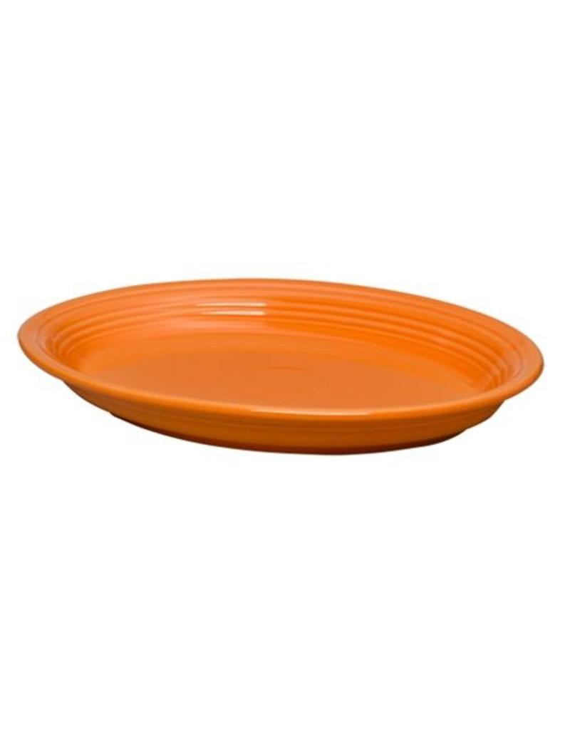 """Large Oval Platter 13 5/8"""" Tangerine"""