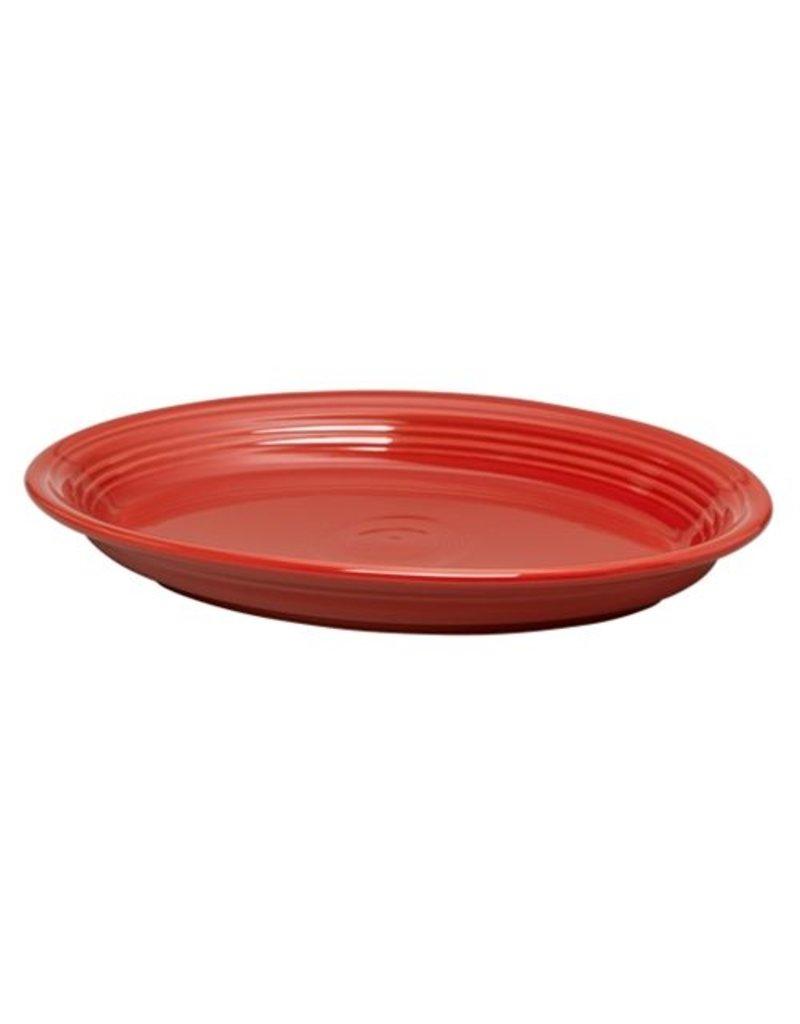 """Large Oval Platter 13 5/8"""" Scarlet"""