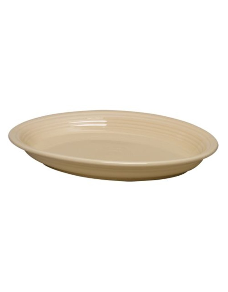 "Large Oval Platter 13 5/8"" Ivory"