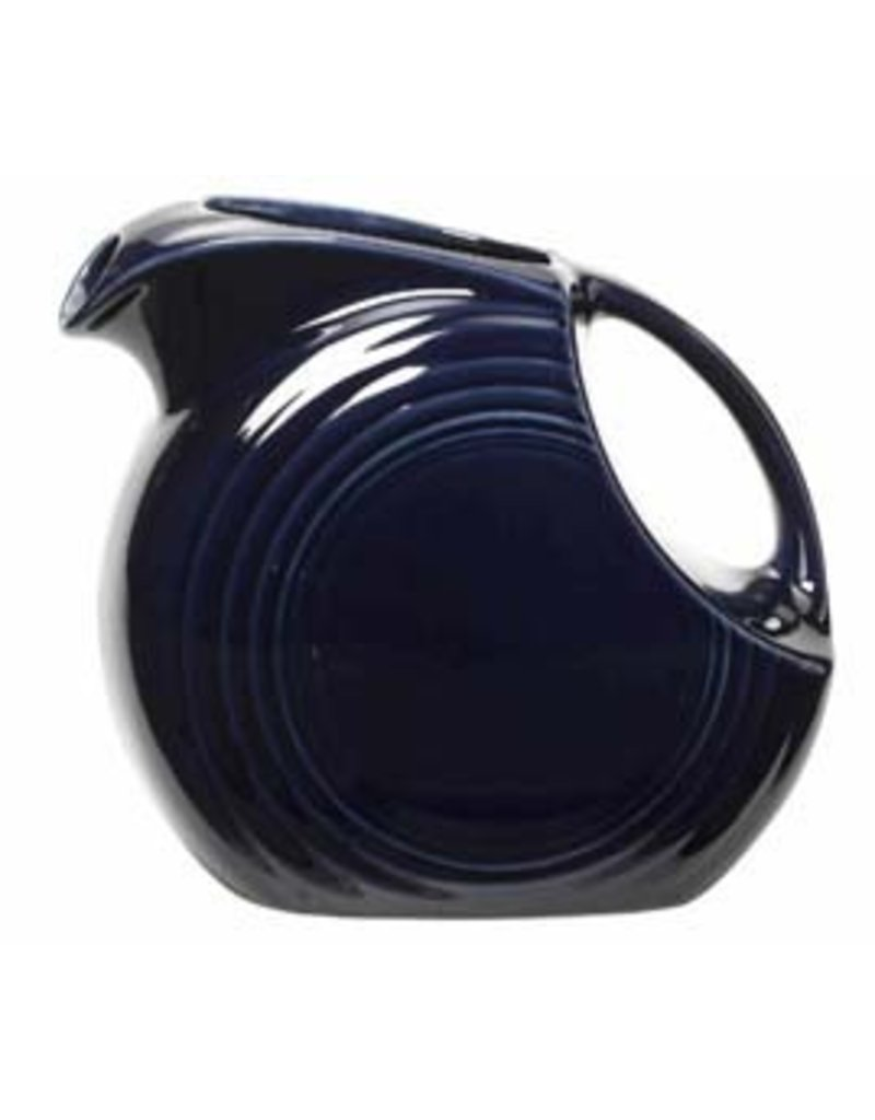 Large Disc Pitcher 67 1/4 oz Cobalt Blue