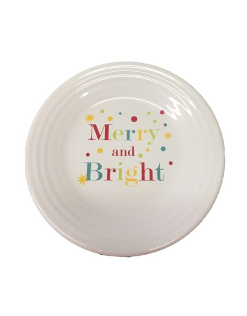 """Luncheon Plate 9"""" Merry and Bright"""