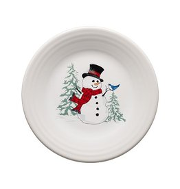 "Luncheon Plate 9"" Snowman"