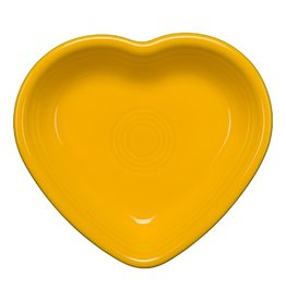 Large Heart Bowl 26 oz Daffodil