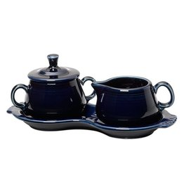 Sugar Cream Tray Set Cobalt Blue