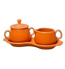 Sugar Cream Tray Set Tangerine