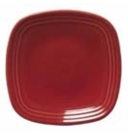 "Square Luncheon Plate 9 1/4"" Scarlet"
