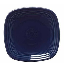 "Square Dinner Plate 10 3/4"" Cobalt Blue"