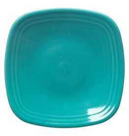 "Square Dinner Plate 10 3/4"" Turquoise"