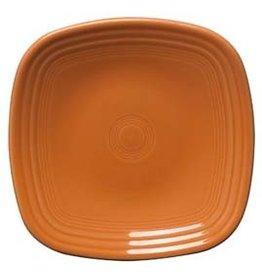 """Square Dinner Plate 10 3/4"""" Tangerine"""