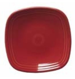 "Square Dinner Plate 10 3/4"" Scarlet"