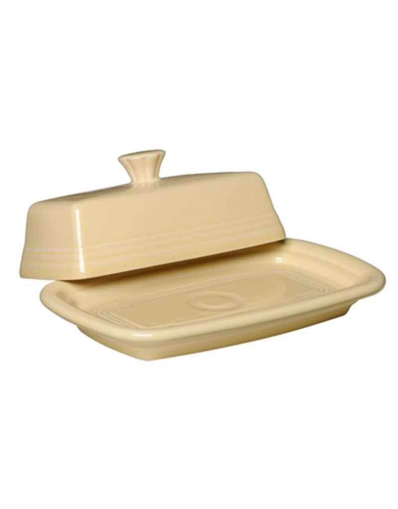 Extra Large Covered Butter Ivory